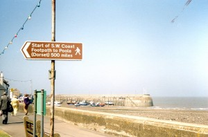 Minehead seafront: the old (inaccurate) sign