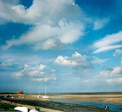 Boats on the approach to Wells