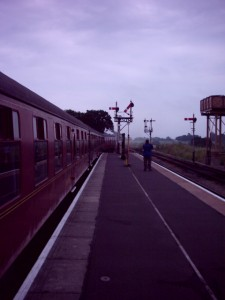 The platform at Bishops Lydeard