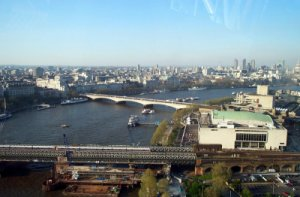 Looking east from the London Eye